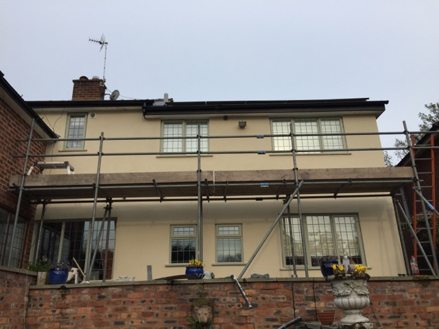 a recent job we carried out for rendering in didsbury